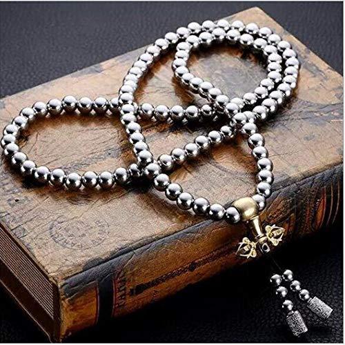 La catena della collana dei perline del Buddha è realizzata in acciaio inossidabile, resistente, impermeabile. La catena di perline del Buddha usata come la catena della vita della collana del braccialetto della mano, la decorazione della macchina, e...