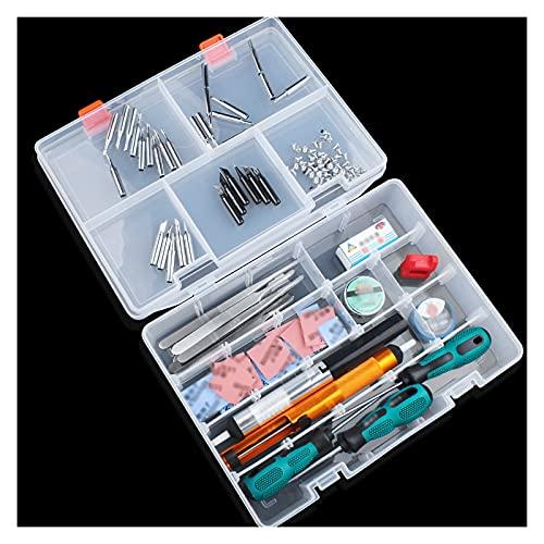 Cassette porta attrezzi Cassa di immagazzinaggio trasparente della scatola degli strumenti di plastica con la maniglia di bloccaggio degli strumenti dell'hardware di riparazione del compartimento rimo
