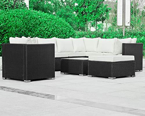 Hansson Polyrattan Lounge Sitzgruppe Gartenmöbel Garnitur Poly Rattan 7 Sitzplätze Bild 2*