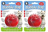 Pet Qwerks Blinky Babble Ball Interactive Dog Toys - Flashing Motion Activated Electronic Talking Ball, Treat Toy That Lights Up & Makes Noise - Keeps Dogs Active | for Medium Dogs (2 Pack Medium)