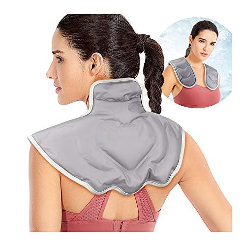 CHUANGRUN Grande Cuscino riscaldante per microonde per Collo e Spalle, impacco Caldo e Freddo per alleviare dolori, dolori muscolari, Stress, Tensione e Mal di Testa
