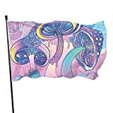 Bandera de la bandera del jardín, color vivo de la seta rosada y bandera de la yarda cosida doble resistente a la decoloración de los rayos UV Banderas de pared de la bandera de la temporada 150X90cm