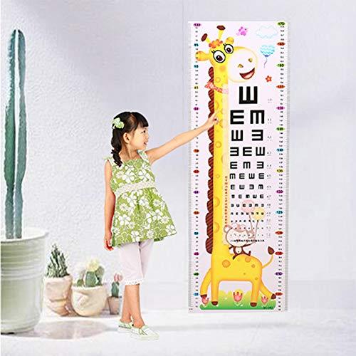 MWLSW Wandaufkleber Cartoon Tier Maßnahme Wandaufkleber Für Kinderzimmer Kindergarten Giraffe AFFE Höhe Visuelle Schärfe Diagramm
