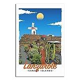 ASFGH Lanzarote Kanarieninseln Vintage Reise Poster Dekor