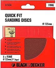 15 Black & Decker A1636 125 mm / 5 cali szybkie dopasowanie tarcze szlifierskie 120 g (5 opakowań po 3)