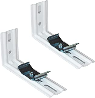 """CUTELEC L Bracket 4Pack for 5"""" (127mm) Vertical Blinds White Installation Brackets with Clips"""