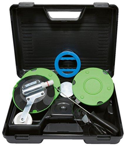 KS Tools 140.2360 Kit Reparation Pare Brise Pour L'Enlèvement Professionnel De Parebrises Collés, Kit De Demontage Pare-Brise, Avec Ventouses Vitres, 5 Pcs - Mallette De Rangement