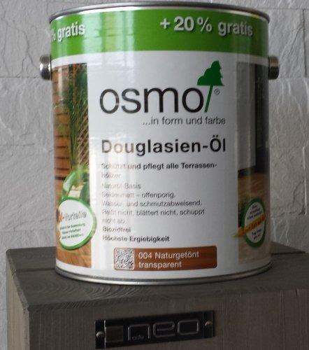 Osmo Douglasie-Öl 004 3,00 L Holz-Spezial-Öl, seidenmatt für außen AKTION