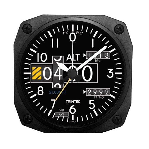 (トリンテック) Trintec 【計器パネル】 Altimeter (高度計) 目覚まし時計 置時計 DM20