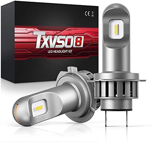 Lampadine H7 LED 12000LM 50W H7 Kit Faro per Auto a LED 6000K Lampade allo Xeno Bianche 50W 2 pezzi set Sostituzione Fari Abbaglianti Adatta per Tutti I H7 Auto, 2 Pz Set (H7)