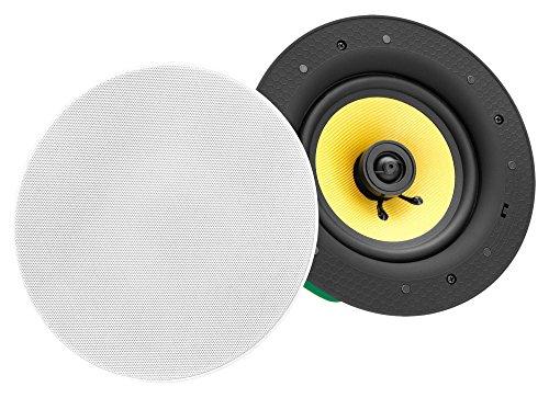Pronomic CLS-880 WH High-End Gewebe Einbaulautsprecher (2-Wege Decken-Lautsprecher Box, 8