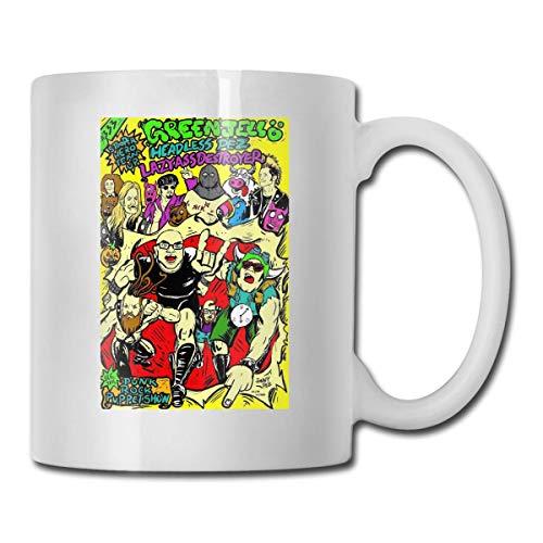 XCNGG Taza de café de la taza de la taza del cielo estrellado de la pendiente de la taza de cerámica Gr_EEN Je_Lly Ceramic Mug Coffee Mug Cup Design with Handle Decoration with Handle Coffee Tea