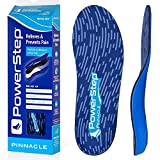 Powerstep Unisex-Adult Pinnacle Signature, Comfort Cushioning and Supportive Insoles with Shock Absorption for Neutral Arches, Blue, Men's Size 9-9.5/Women's Size 11-11.5