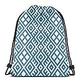 Jhonangel Mochila étnica geométrica con cordón, Impermeable, Bolsa de Viaje para Yoga, 36 x 43 cm / 14,2 x 16,9 Pulgadas