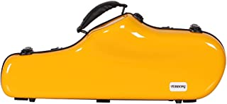 Homyl Alto Saxophone Case-Fiberglass Hardshell Carrying Bag Box Container with Backpack Straps - yellow