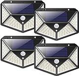 nuosife Solares para Exteriores, Luz Solar Exterior, Lluminacion led Solar, 3 modos de iluminación, iluminación de 270°,...