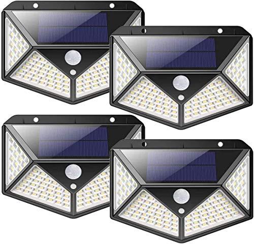 nuosife Solares para Exteriores, Luz Solar Exterior, Lluminacion led Solar, 3 modos...