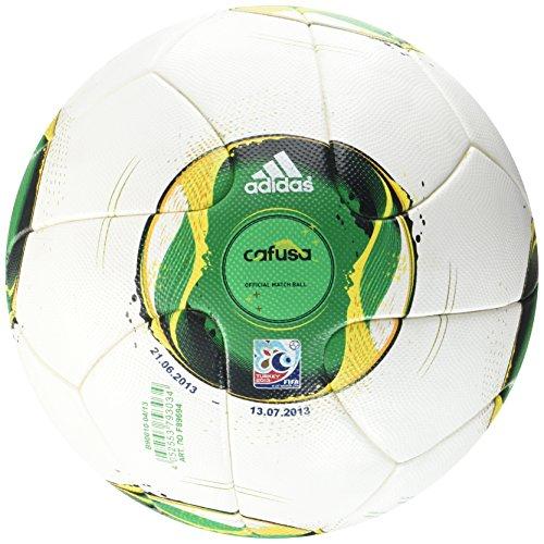 adidas Z19458 - Pelota de fútbol (Talla 5), Modelo Oficial de la Copa FIFA Confederaciones, Color Blanco y Amarillo