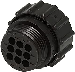 Amp 206708-1 Connector, Sealed CPC SKT, 9 Position, Straight, Cable Mount, 9 Terminal, 1 Port (Pack of 2)
