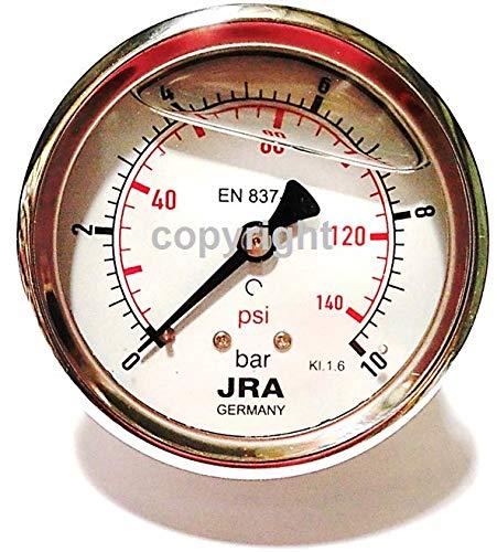"""JRA-Longlife Glyzerin Manometer 0-10 bar NG63 Anschluss hinten G1/4"""""""