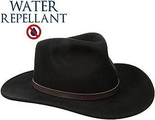 SCALA Classico Men s Crushable Felt Outback Hat Wide Brim 100% Wool Felt UV  Protection 47891fb2368