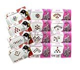 IS4A Multicolored Indian Bollywood Forehead Stickers Multi Design Jewelry Bindi Tattoo Stickers Adhesive Body Jewelry Multi Size Indian Daily Use Set Of 12