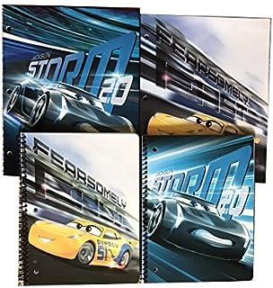 Disney Pixar Cars 3 School 2 Folder & 2 Notebook / Tablet Bundle - Cruz Ramirez & Jackson Storm
