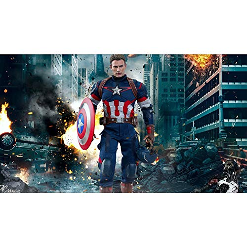 Klassische Puzzle Marvel Iron Man Puzzles 300/500/1000/1500 Stücke for Erwachsene Holz Avengers Captain America Hulk Puzzle Spielzeug, 4 Styles (Color : B, Size : 300 Pieces)