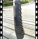 VARWANEO Wonderful Chinese Kungfu Nine Rings Broadsword Wushu Da Dao Sword Sharp 1095 High Carbon Steel Blade Strong Steel Handle Outdoors Fighting Broad Knife Saber