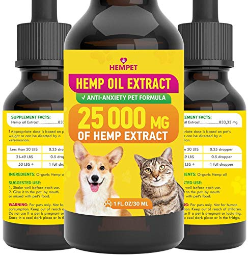 Hemp Oil Extract for pet - 25 000 MG - Highly Effective - Anxiety,...