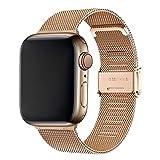 Cinturino per Apple Watch 38mm 40mm,Bracciale in Acciaio Inossidabile Compatibile con iWatch Series SE 6/5/4/3/2/1 (38mm/40mm, Oro Rosa)