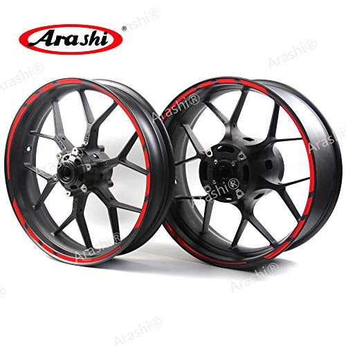 Arashi Red Wheel Rims Sticker Decals Designed for All 17