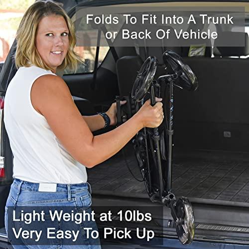Carex 3 Wheel Walker for Seniors is the lightest weight rollator walker