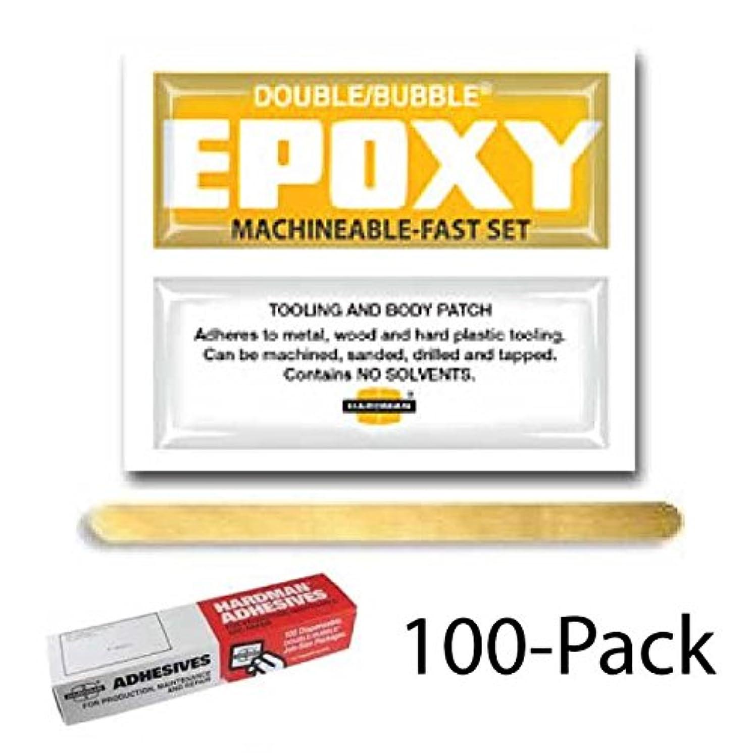 Hardman Double Bubble Yellow-Label Machinable Epoxy 100 Packs (#04002)