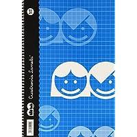 Lamela 68702 - Cuaderno básico tipo folio, 80 hojas, franja de colores surtidos