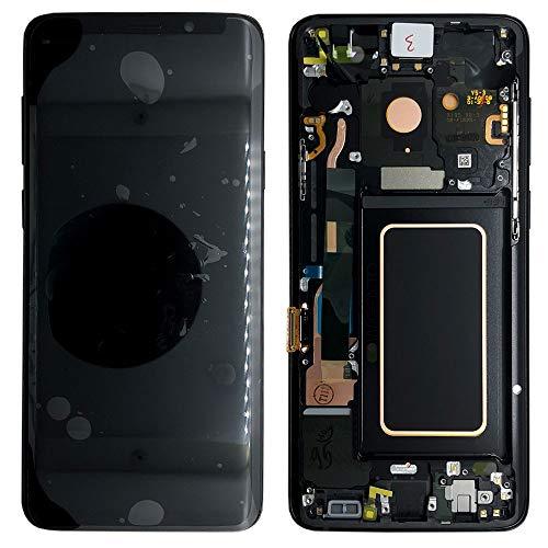 Display Touchscreen Bildschirm Rahmen in Schwarz für Samsung Galaxy S9 G960F - GH97-21696A