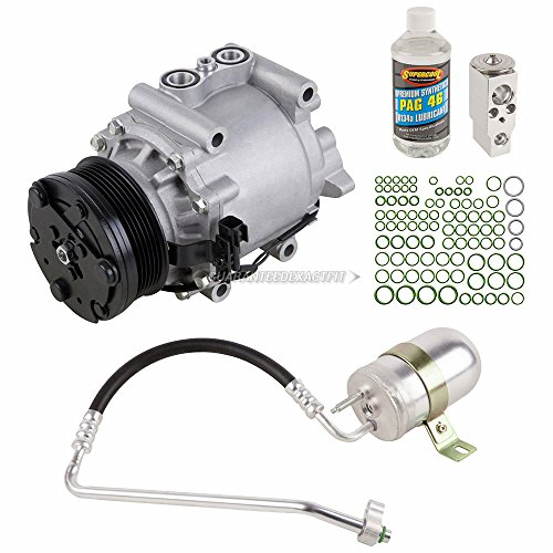 AC Compressor & A/C Kit For Ford Freestyle 2006 2007 - Includes Drier Filter, Expansion Valve, PAG Oil & O-Rings - BuyAutoParts 60-81455RK NEW