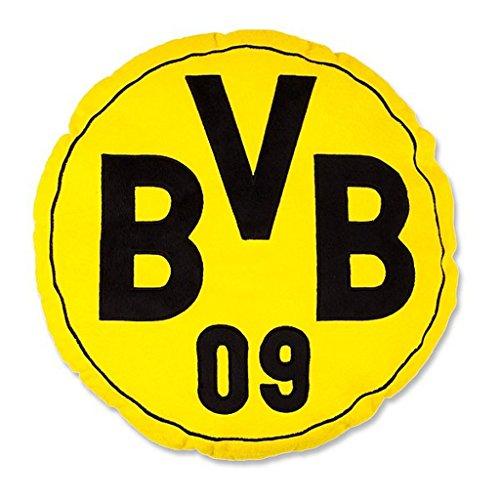 Borussia Dortmund Kissen/Kuschelkissen/Plüschkissen Ø ca. 42 cm BVB 09 - Plus gratis Aufkleber Forever Dortmund