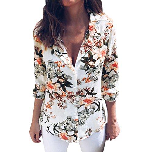 Fossen Mujer Blusa de Manga Larga Botones Camisetas de Baratas en Oferta Blusas de Mujer Elegantes de Fiesta 2020