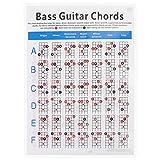Artibetter 4- string Guitar Chords Chart Guitar Fingering Chart for Bass Electric Acoustic Guitars Beginner Art Paper Musical Instrument Accessories ( 30. 5X21. 5X0. 01CM )