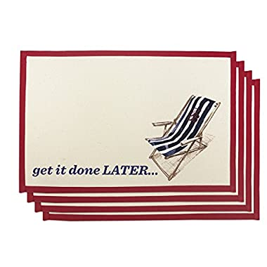 Tommy Bahama  Get It Done Later  Placemat (Set of 4)