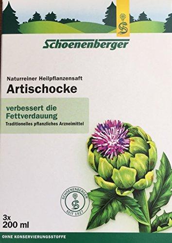 Schoenenberger, Naturreiner Heilpfanzensaft ARTISCHOKE, 6 x 200ml