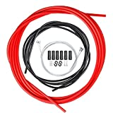 AnvFlik - Juego de 4 cables de freno de bicicleta universales y cable de palanca de cambios con línea de control de repuesto para la reparación de bicicletas de carretera de montaña
