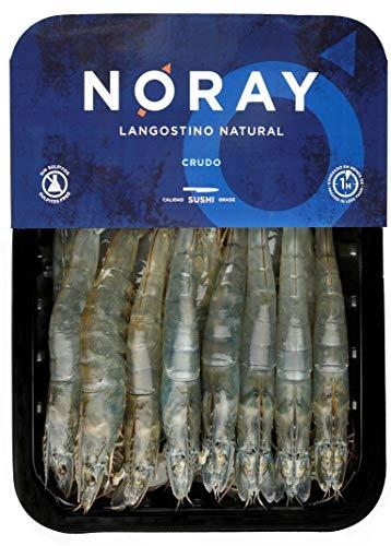 Langostino NORAY, Ultra FRESCO y Nunca Congelado, CRUDO, 40/60 Piezas por Kilo - Bandeja 1kg - Calidad PREMIUM