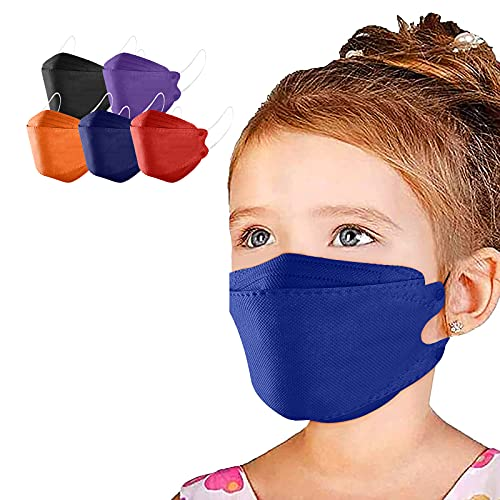 50/100Pcs Kids 94 Face_Masks,Disposable Colorful for Boys Girls Cute Printed Face Bandanas 4Ply Earloop Face Protection