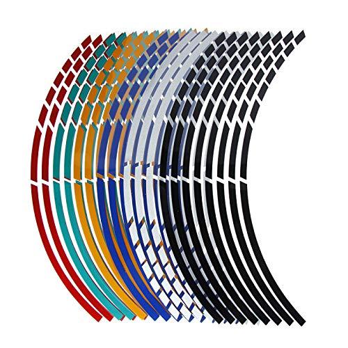 QOHFLD Cinta Reflectante de Pegatinas de neumáticos de Rueda de Motocicleta, para Yamaha XMAX125 XMAX250 Xmax 400 X300 V-MAX 1700 VMAX1 SEROW225