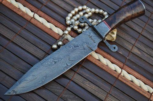 Perkin Damastmesser Jagdmesser mit Scheide - US45
