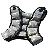 CROSS101 Adjustable Camouflage Weighted Vest 12LBS - 140LBS (Desert - 12LBS)