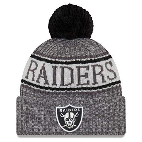 New Era Oakland Raiders - Beanie - NFL 2018 Sideline Sport Graphite Knit - Black/Grey - One-Size