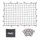 ORION MOTOR TECH Cargo Net for Pickup Truck Beds, 3x4 Truck Cargo Netting and Roof Rack Cargo Net Compatible with Ford Ram GMC Toyota Chevrolet 6x8 Max Bungee Netting with Handmade Knots 12 Carabiners